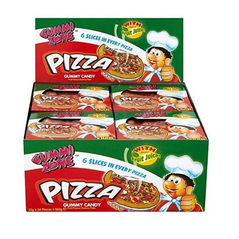 24 x Mini Pizza Gummy Sweets - Novelty Candy Gummi Zone - Wholesale Box
